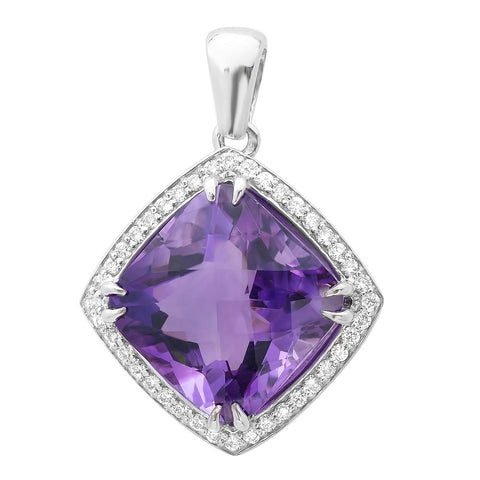 PMI 14W@7.50 40RD1@0.41 1AMountings@11.80 AMETHYST PENDANT