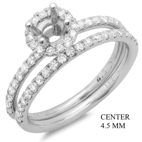 PMI 14W@3.80 53RD@0.64 4.5MM ROUND WEDDING SET