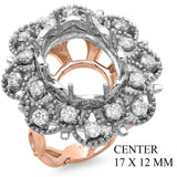 PMI 14PW@13.4 16RD1@1.18 17X12MM OVAL TWO-TONE