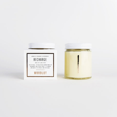 Woodlot Aromatherapy Candle - Recharge