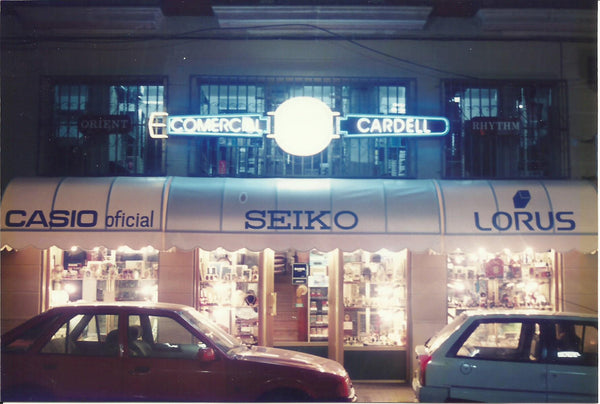 Cardell Watch Store en los 80