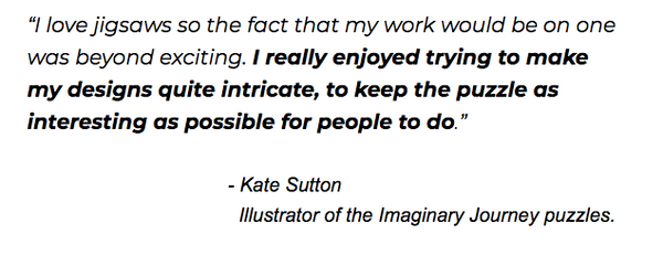 Kate Sutton on Puzzles, Badge Bomb Illustrator, Enamel Pins, patches, stickers, and more