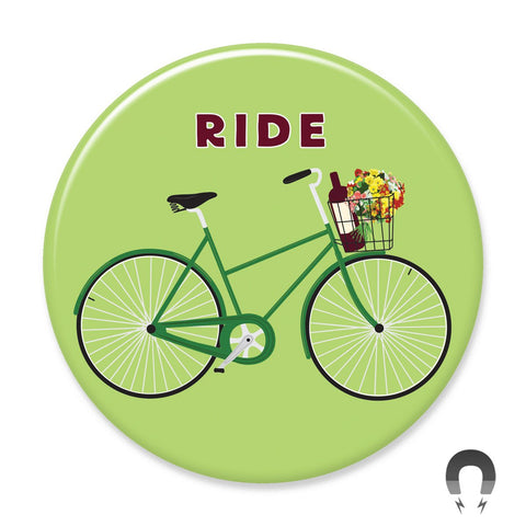 Ride Bike Magnet by Seltzer Goods