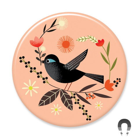 Badge Bomb Black Bird Magnets by Daniel Roode