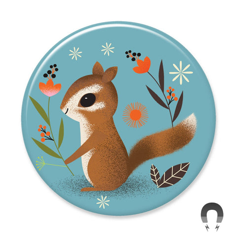 Badge Bomb Chipmunk Magnets by Daniel Roode