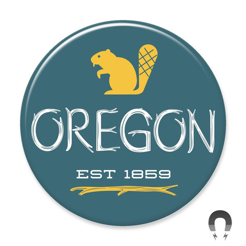 Oregon Beaver Magnet by Hey Darlin'