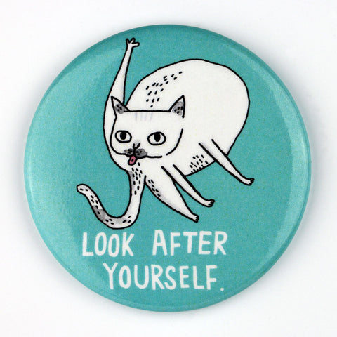 Look After Yourself Cat Magnet