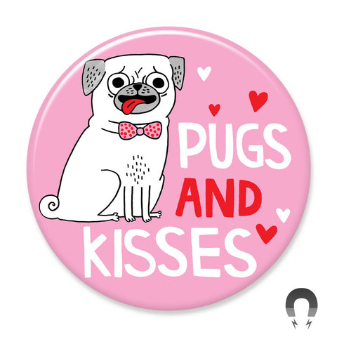 Pugs and Kisses Big Magnet