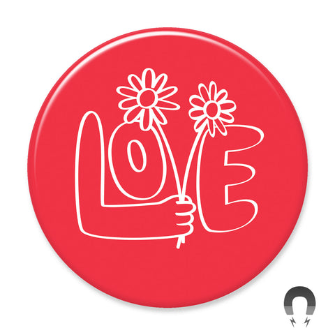 Love with Flowers Big Magnet