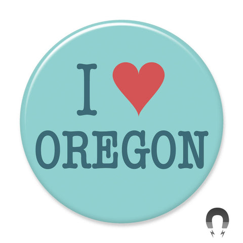 I Heart Oregon Big Magnet