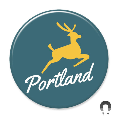 Portland Stag Magnet by Hey Darlin'
