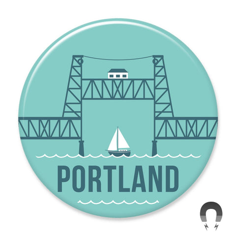 Portland Steel Bridge Magnet by Hey Darlin'