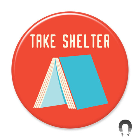 Take Shelter Book Big Magnet by Crossroads Creative