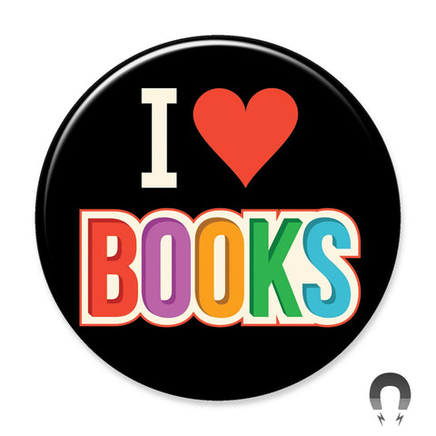I Love Books Rainbow Big Magnet by Crossroads Creative