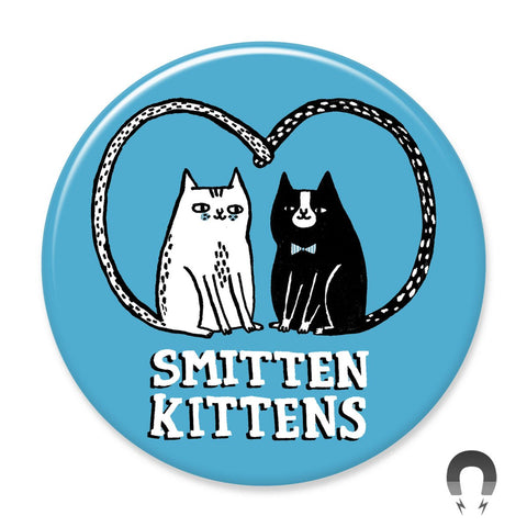 Smitten Kittens Big Magnet by Gemma Correll.