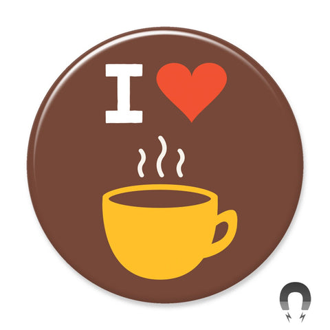 I Heart Coffee Brown Big Magnet by Crossroads Creative