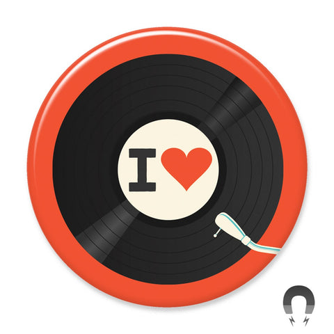 I Heart Records Big Magnet by Crossroads Creative