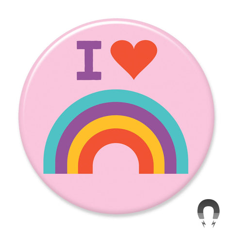 I Heart Rainbows Big Magnet by Crossroads Creative