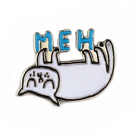 Meh. Cat Enamel Pin