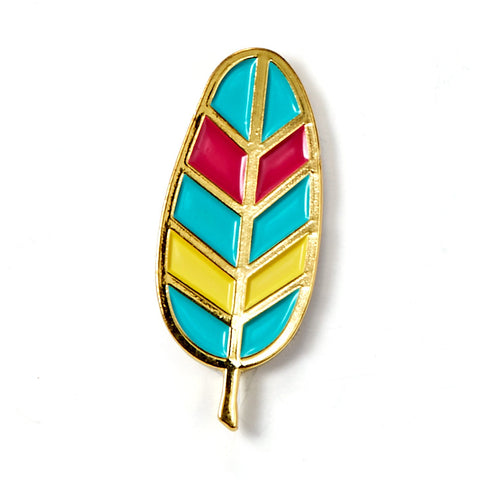 Feather Enamel Pin