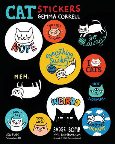 Cattitude Stickers