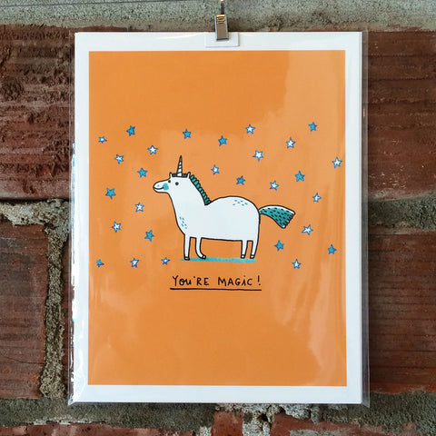 You're Magic Unicorn 8X10 Print by Gemma Correll