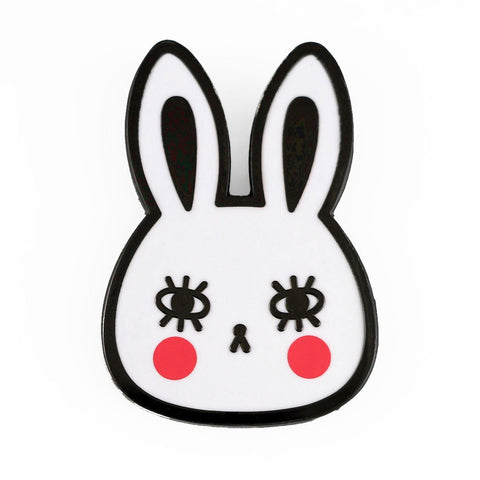 White Rabbit Enamel Pin