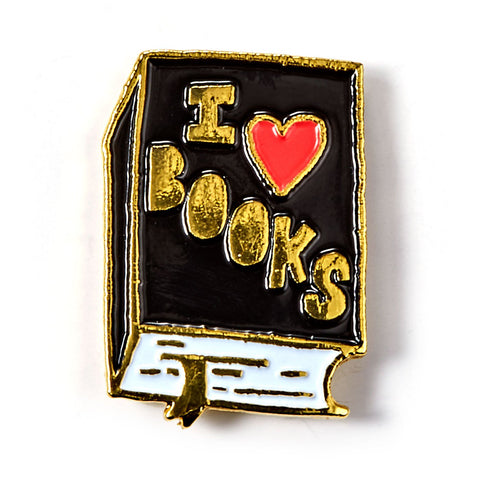 I Heart Books Enamel Pin