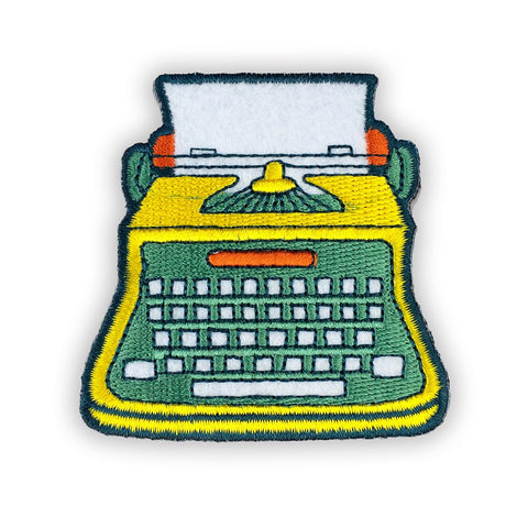 Typewriter Felt Patch