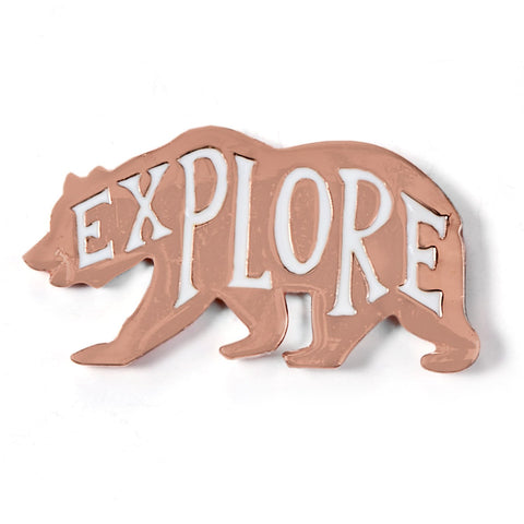 Explore Bear Enamel Pin