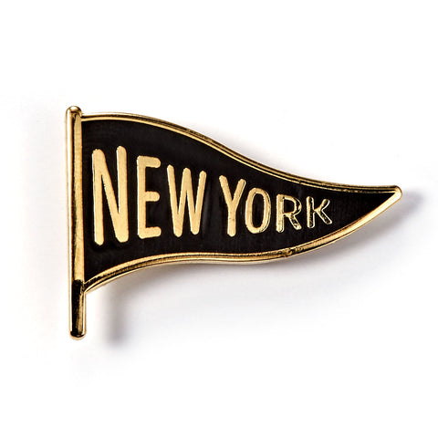 New York Pennant Enamel Pin