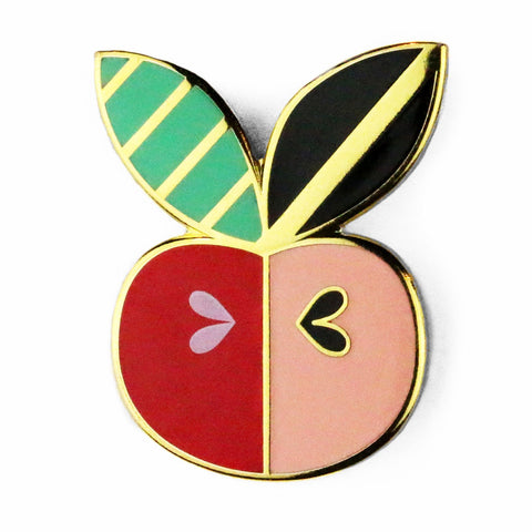 Apple Core Enamel Pin