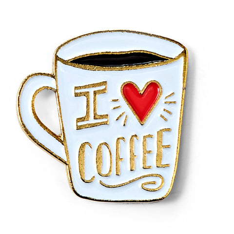 I Love Coffee Enamel Pin