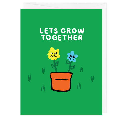 Let's Grow Together A2 Card