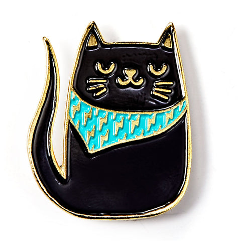 Bandana Cat Enamel Pin
