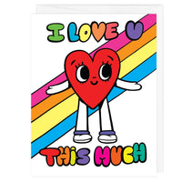 I Love You This Much A2 Card