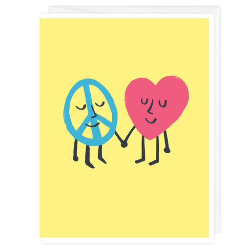 Peace and Love A2 Card