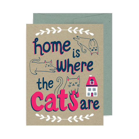 Home Is Where The Cats Are A2 Card
