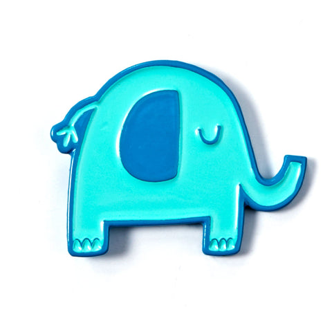 Blue Elephant Enamel Pin