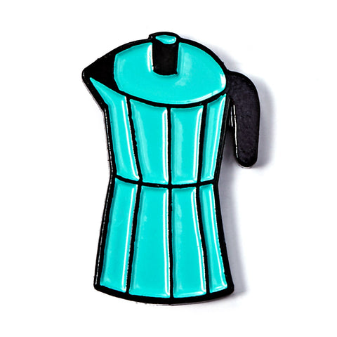 Blue Coffee Pot Enamel Pin