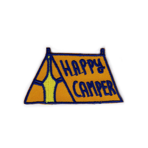 Happy Camper Tent Orange Patch