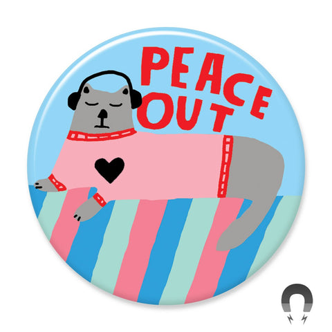 Peace Out Cat Big Magnet