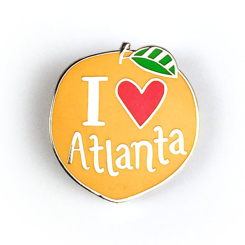 Atlanta Peach Enamel Pin