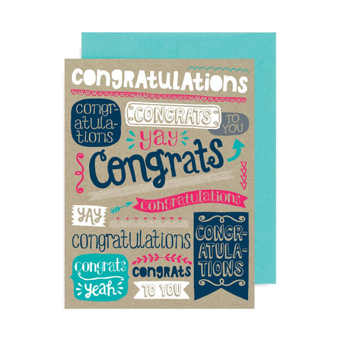Congratulations Banners A2 Card