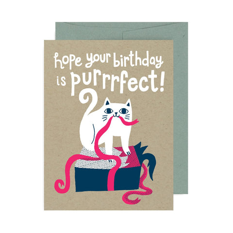 Purrrfect Birthday A2 Card