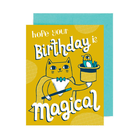 Birthday Magical Cat A2 Card