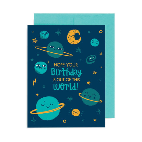 Birthday Out of This World A2 Card