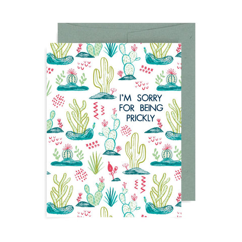 I'm Sorry for Being Prickly A2 Card