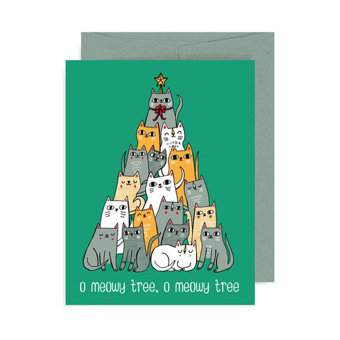 Oh Meowy Tree A2 Card