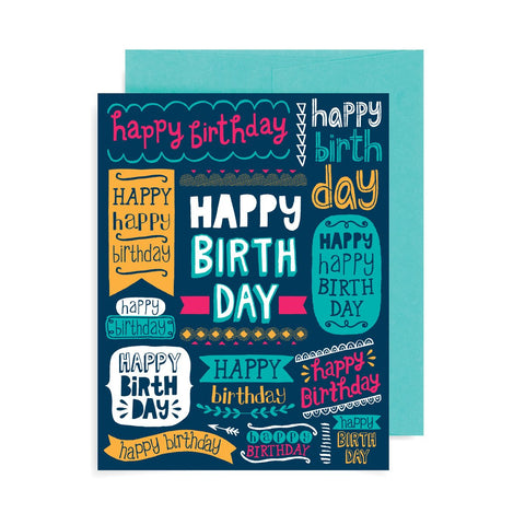 Happy Birthday Banners A2 Card